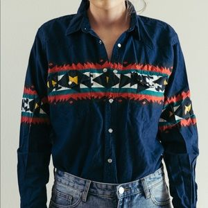 Western Snap Colorful Button Up